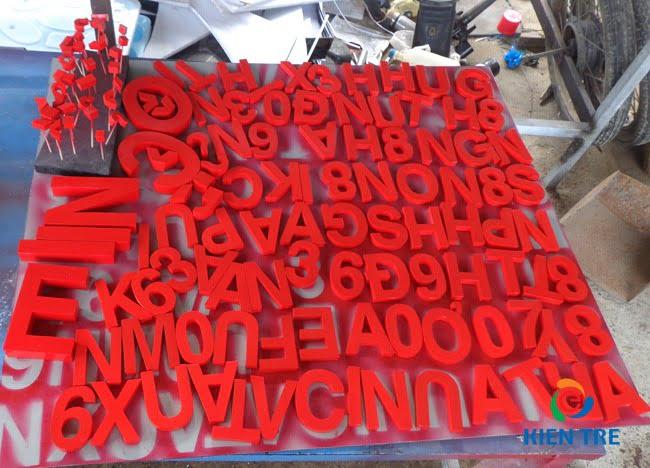 chữ inox