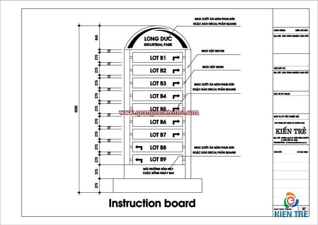 Thiết kế bảng chỉ dẫn