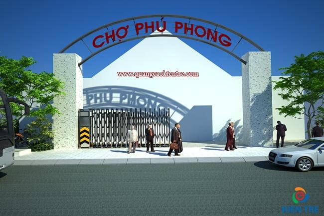 thiết kế cổng chợ