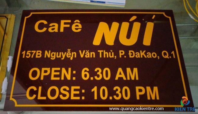 bảng quán cafe