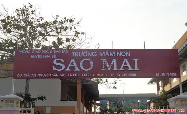 biển hiệu trường tiểu học