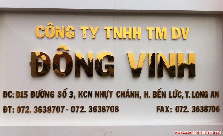 biển hiệu công ty inox vàng