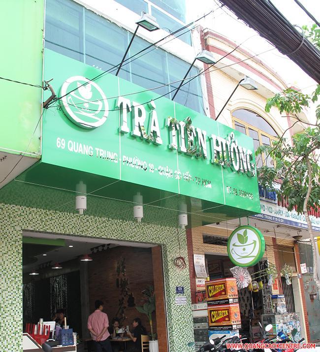 biển quảng cáo quán trà sữa