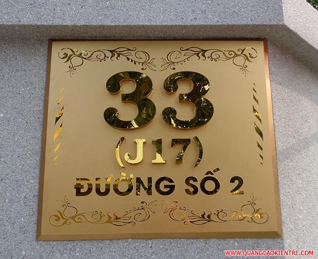 bảng số nhà đẹp