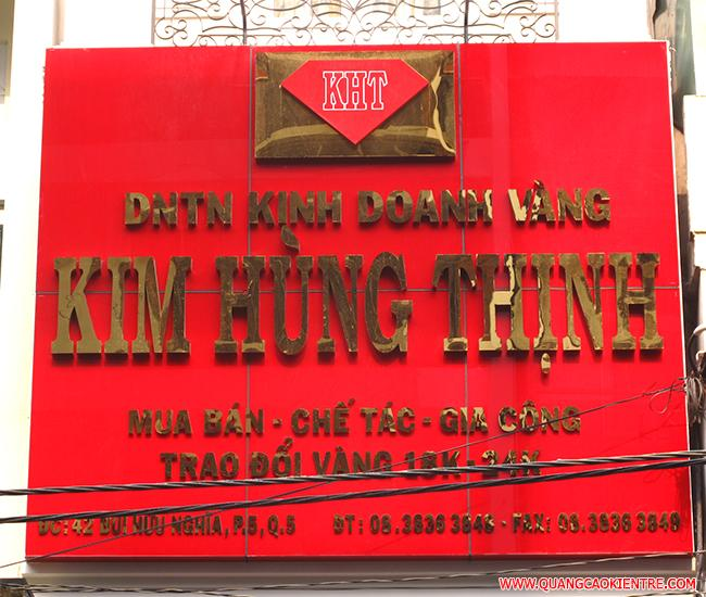 bảng hiệu tiệm vàng