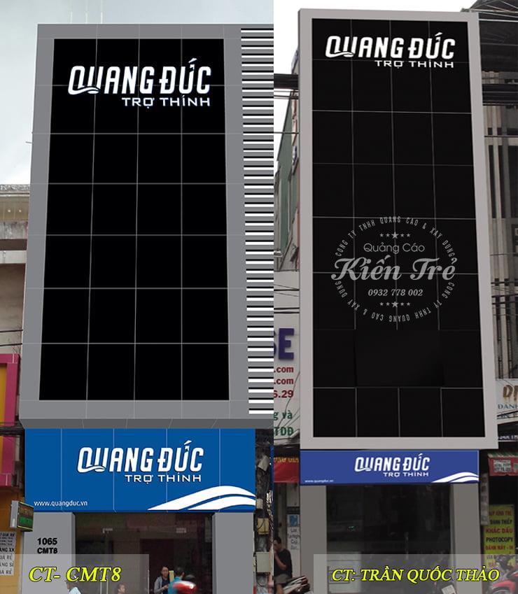 bảng hiệu quảng cáo Quang Đức