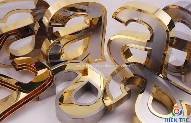 Thi công chữ inox 3D đẹp - giá rẻ - chất lượng cao