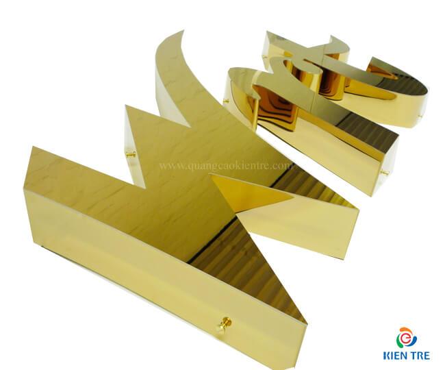 Tìm hiểu mẫu chữ nổi inox vàng sang trọng, chất lượng cao