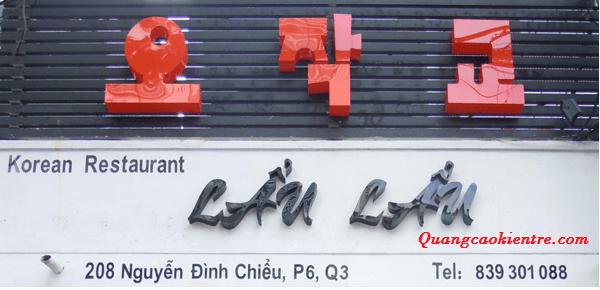 Trải nghiệm mẫu chữ mica đỏ với Quảng cáo Kiến Trẻ