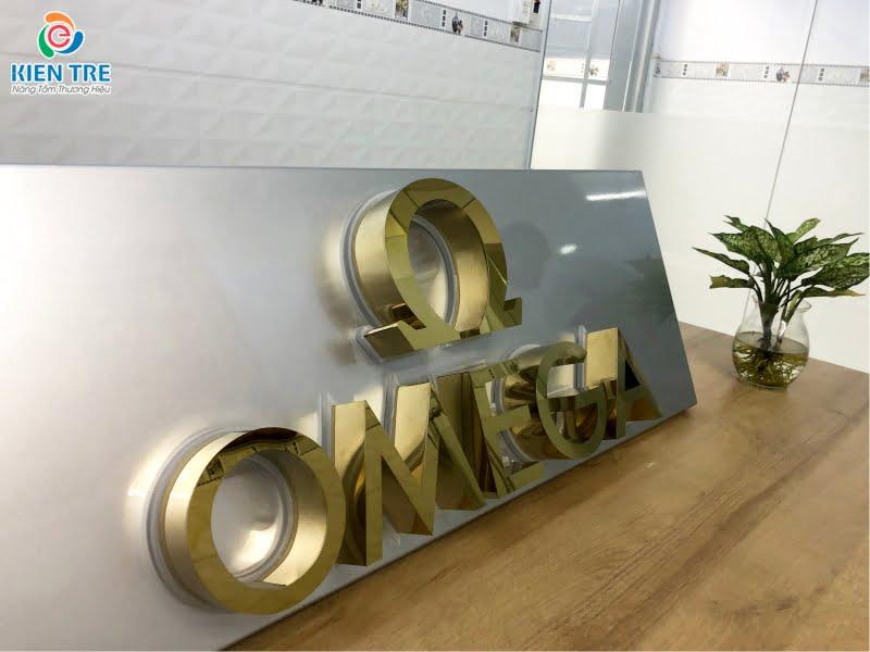 Gia công chữ nổi inox vàng | Làm bảng hiệu quảng cáo Kiến Trẻ