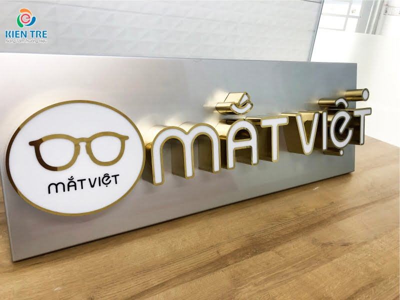 Mẫu chữ inox vàng gương đẹp cho bảng hiệu quảng cáo | Báo giá chữ inox vàng