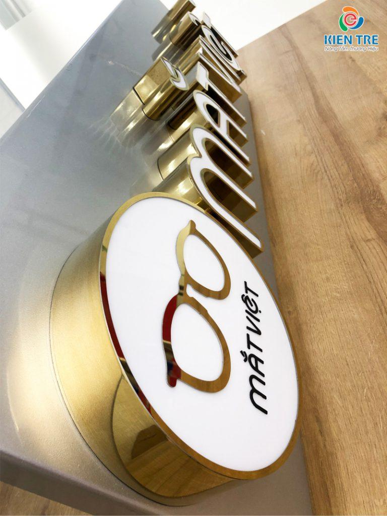 Mẫu chữ inox vàng gương đẹp cho bảng hiệu quảng cáo | Báo giá chữ inox vàng 0911 86 66 00