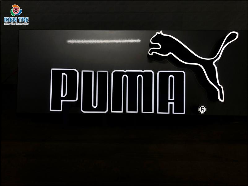 Mẫu chữ nổi quảng cáo inox uốn ngược đẹp, sang cho thương hiệu PUMA